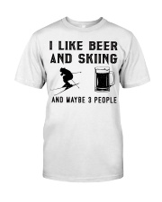 I-like-beer-and-skiing-and-maybe-3-people Classic T-Shirt tile