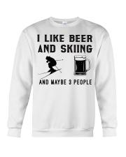 I-like-beer-and-skiing-and-maybe-3-people Crewneck Sweatshirt tile