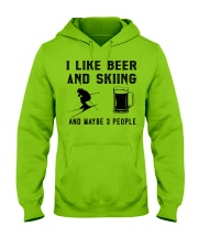 I-like-beer-and-skiing-and-maybe-3-people Hooded Sweatshirt front