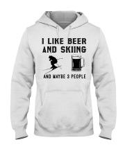I-like-beer-and-skiing-and-maybe-3-people Hooded Sweatshirt tile