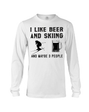 I-like-beer-and-skiing-and-maybe-3-people Long Sleeve Tee tile