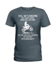 Motocross-He-is-Racing-Imaginary Ladies T-Shirt tile