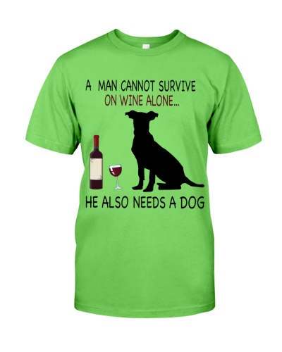 Dogs-Man-Wine