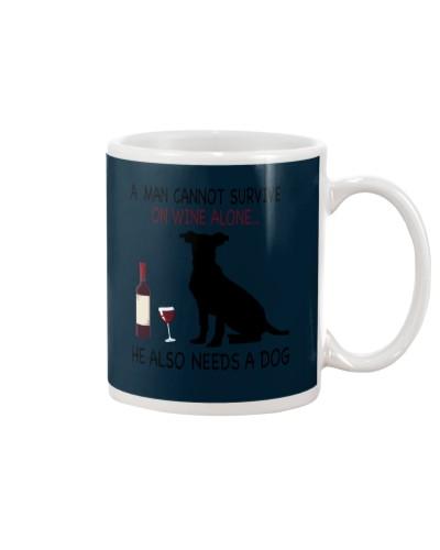 Dogs-Man-Wine