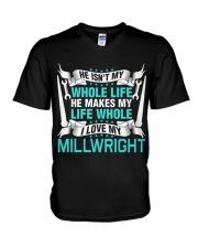 I Love My Millwright V-Neck T-Shirt thumbnail