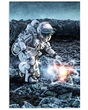 Astronaut in suit touching atom molecule 24x36 Poster thumbnail