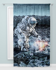 Astronaut in suit touching atom molecule Window Curtain - Blackout aos-window-curtains-blackout-50x84-lifestyle-front-04