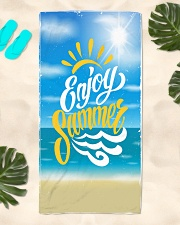 Enjoy Sumer Beach Towel aos-towelbeach-vertical-front-lifestyle-2