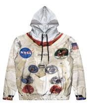 3D  Armstrong Spacesuit Men's All Over Print Hoodie thumbnail