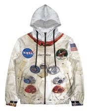 3D  Armstrong Spacesuit Men's All Over Print Full Zip Hoodie thumbnail