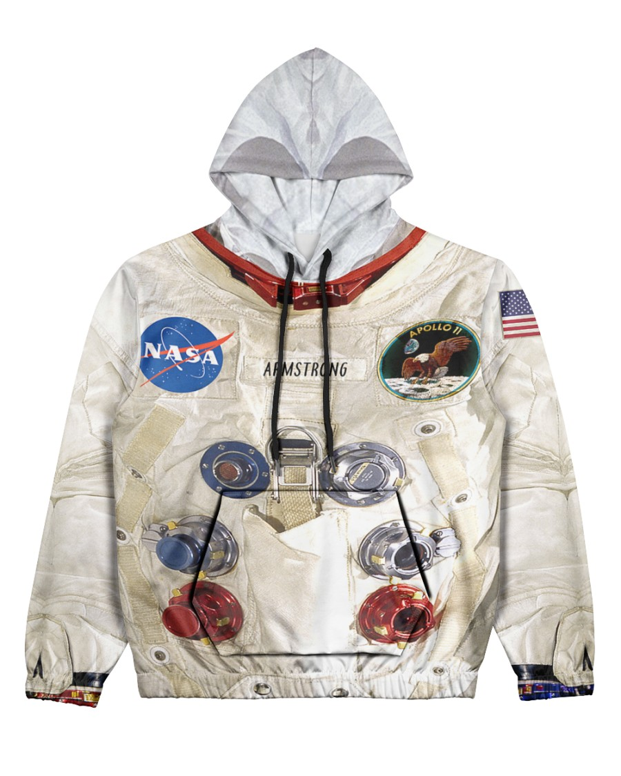 3D  Armstrong Spacesuit Women's All Over Print Hoodie