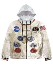 3D  Armstrong Spacesuit Women's All Over Print Full Zip Hoodie thumbnail