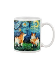 Smiling Corgi Night Canvas Mug thumbnail