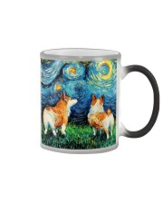 Smiling Corgi Night Canvas Color Changing Mug thumbnail