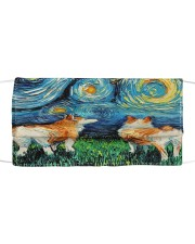Smiling Corgi Night Canvas Cloth face mask thumbnail