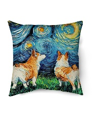 "Smiling Corgi Night Canvas Indoor Pillow - 16"" x 16"" thumbnail"