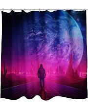 Man Walking music universe Shower Curtain thumbnail