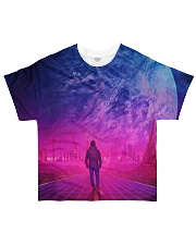 Man Walking music universe All-over T-Shirt thumbnail