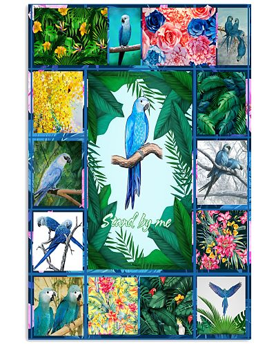 3D Spixs Macaw Canvas