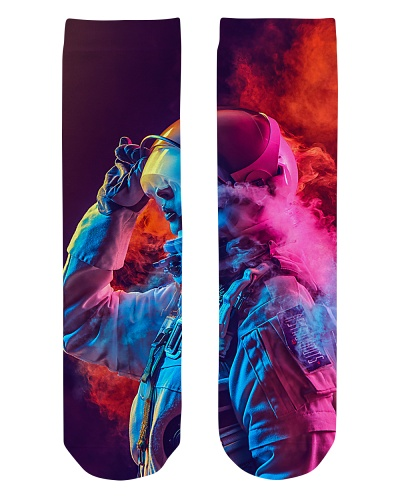 Astronaut Coloured Smoke