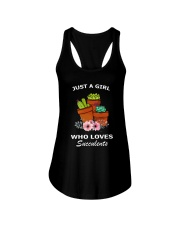 JUST A GIRL WHO LOVES SUCCULENTS Ladies Flowy Tank thumbnail