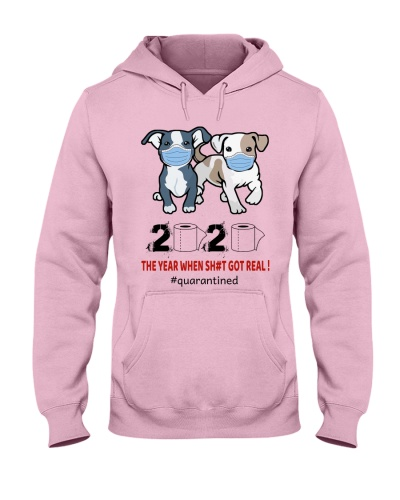 Funny Pitbull Quarantined Time perfect gift