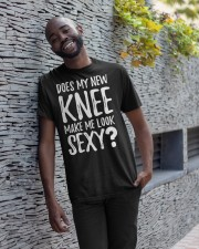 Does My New Knee Make Me Look Sexy  Classic T-Shirt apparel-classic-tshirt-lifestyle-front-33