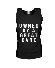 Funny Great Dane Shirts - Owned by a Great Dane  Unisex Tank thumbnail