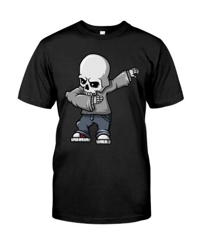 Halloween Dabbing Skeleton Funny Tee