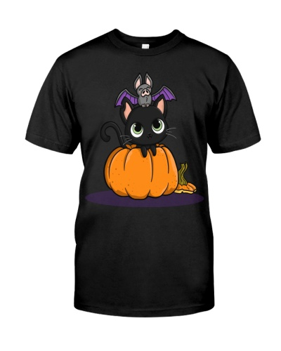 Halloween Black Cats Tee