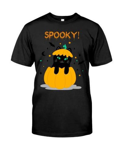 Halloween Cat Spooky Tee