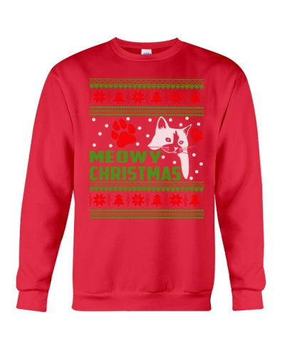 Funny Christmas Sweater Cat Mewo