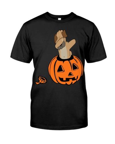 Halloween Pug Dabbing T-Shirt Funny Dab Horror Tee
