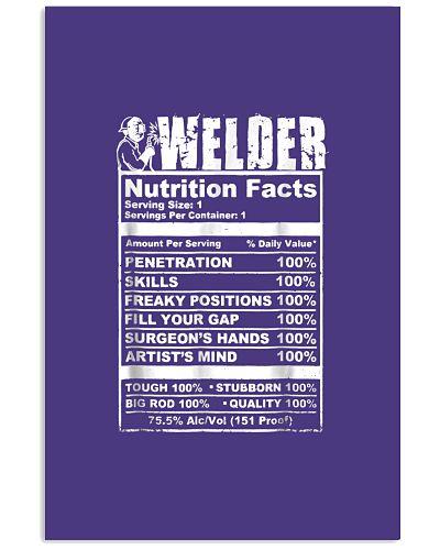 Welder Nutrition Facts Funny Welder