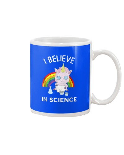 Unicorn Scientist I Believe In Science Funny T-Shi