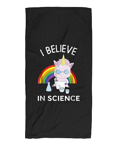 Unicorn Scientist I Believe In Science Funny T-Shi