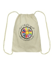And I Think To Myself D0655 Drawstring Bag thumbnail