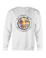 And I Think To Myself D0655 Crewneck Sweatshirt thumbnail