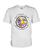 And I Think To Myself D0655 V-Neck T-Shirt thumbnail