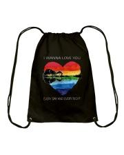I Wanna Love You D0957 Drawstring Bag thumbnail