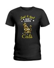Just A Girl Who Love Cats CA0025 Ladies T-Shirt thumbnail