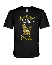 Just A Girl Who Love Cats CA0025 V-Neck T-Shirt thumbnail