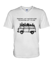 Freedom's Just Another Word V-Neck T-Shirt thumbnail
