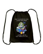 She's A Hippie Girl D0991 Drawstring Bag thumbnail