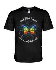 And I Think To Myself D01021 V-Neck T-Shirt thumbnail