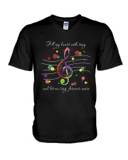 Fill My Heart With Song D0869 V-Neck T-Shirt thumbnail