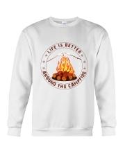 Life Is Better Around The Campfire Crewneck Sweatshirt thumbnail