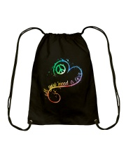 All You Need Is Love A0017  Drawstring Bag thumbnail