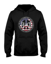 Belive In Something Teach Peace A0155 Hooded Sweatshirt front