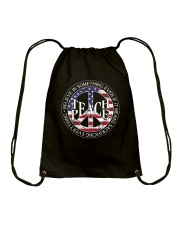 Belive In Something Teach Peace A0155 Drawstring Bag thumbnail